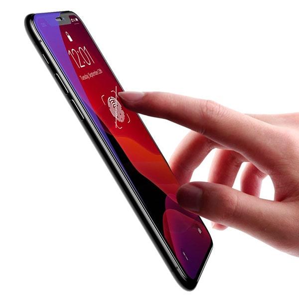 "Защитное стекло Baseus 0.23mm with crack-resistant edges and anti-blue light For iPhone XR 6.1"""