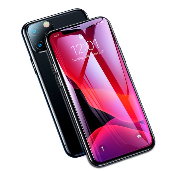 Защитное стекло Baseus 0.23mm with crack-resistant edges and anti-blue light For iPhone X/XS 5.8""