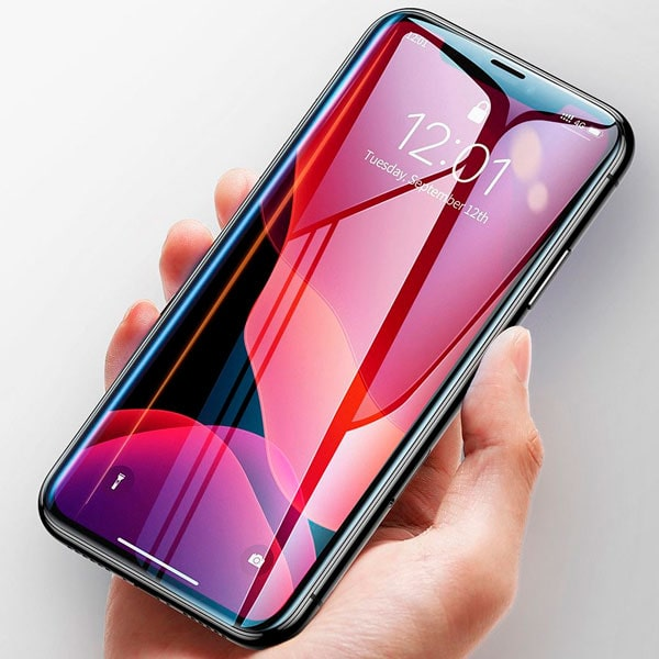 Защитное стекло Baseus 0.23mm with crack-resistant edges and anti-blue light For iPhone XR 6.1""