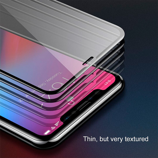 Baseus 0.3mm Rigid-edge curved-screen tempered glass screen protector with anti-blue light For iPhone XS Max