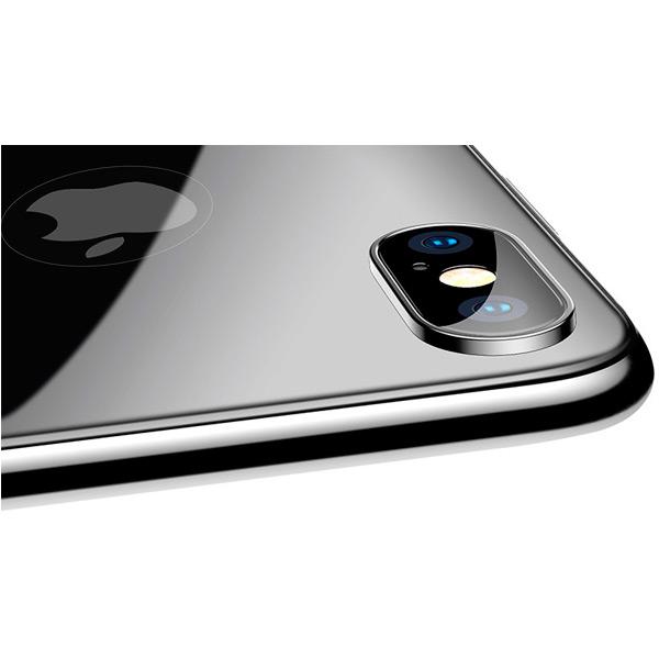 Защитное стекло Baseus 4D Tempered Back Glass для задней панели iPhone X