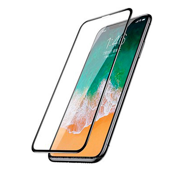Baseus 0.3mm Diamond Body All-screen Arc-surface Anti-peep Tempered Glass Screen Protector For iPhone X/XS