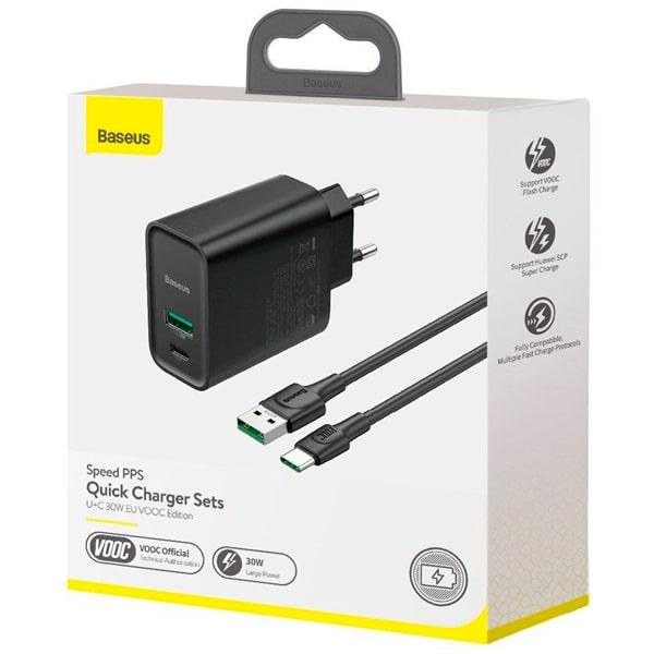 Сетевое зарядное Baseus Speed PPS Quick Charger 30W VOOC Edition