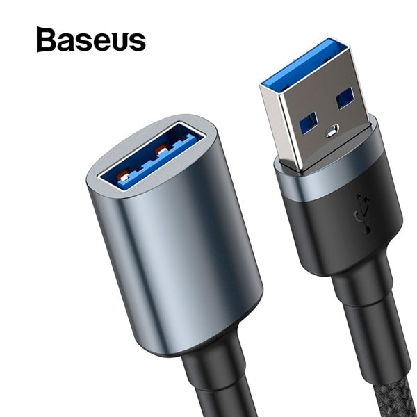 Кабель Baseus cafule Cable USB3.0 Male TO USB3.0 Female 2A 1m