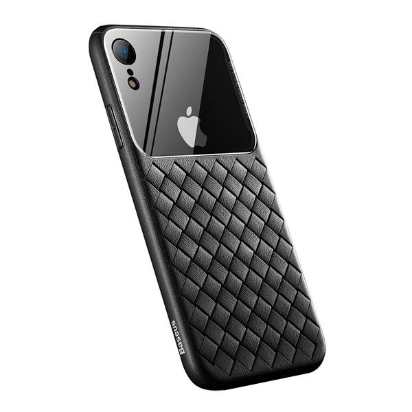 Чехол Baseus Glass & Weaving Apple iPhone XR