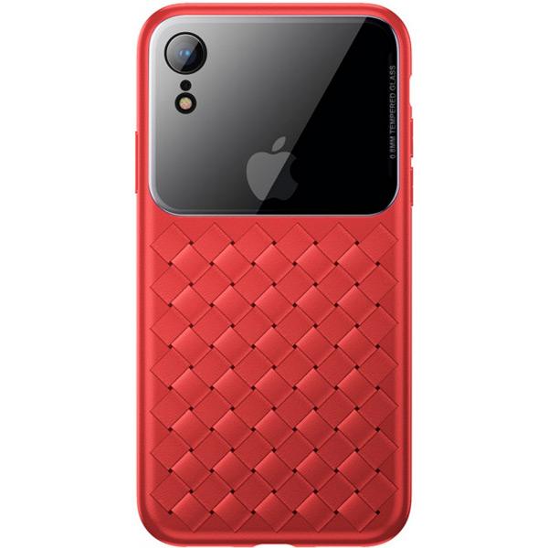 Чехол Baseus Glass & Weaving Apple iPhone X/XS