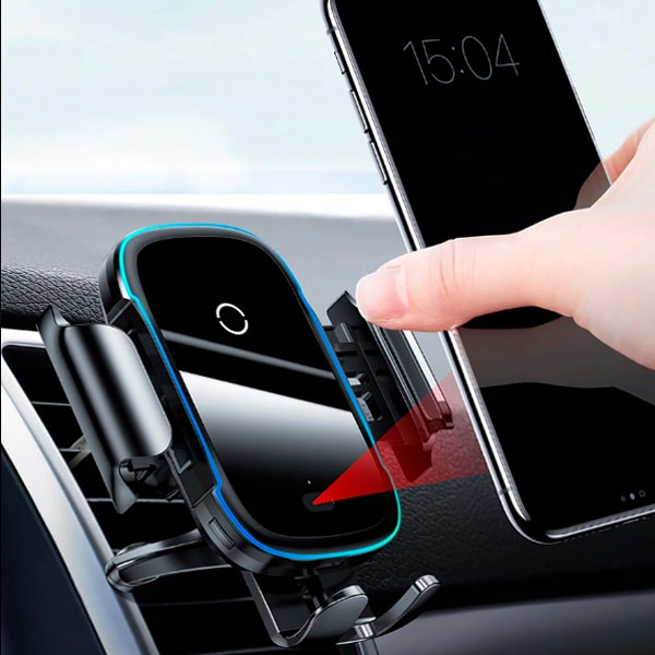 Автодержатель Baseus Light Electric Holder Wireless Charger