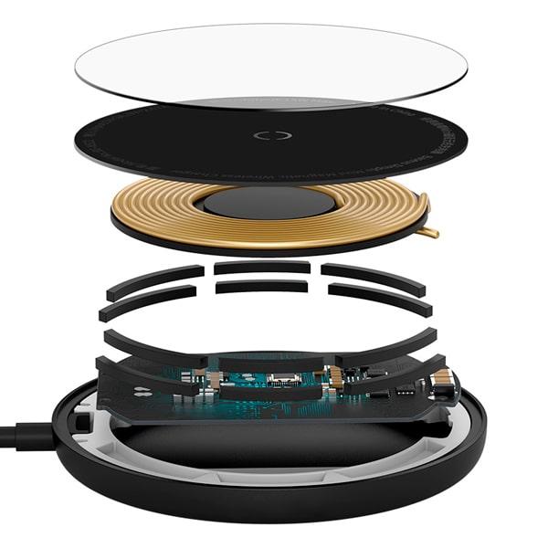 Беспроводное зарядное Baseus Simple Mini Magnetic Wireless Charger