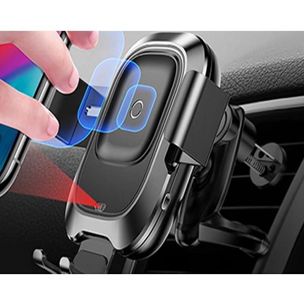 Автомобильный держатель Baseus Smart Vehicle Bracket с беспроводной зарядкой