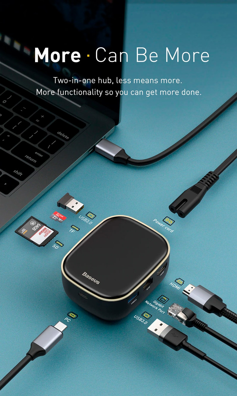 USB-хаб Baseus Type-C HUB Adapter AC Multifunctional Charger (EU)