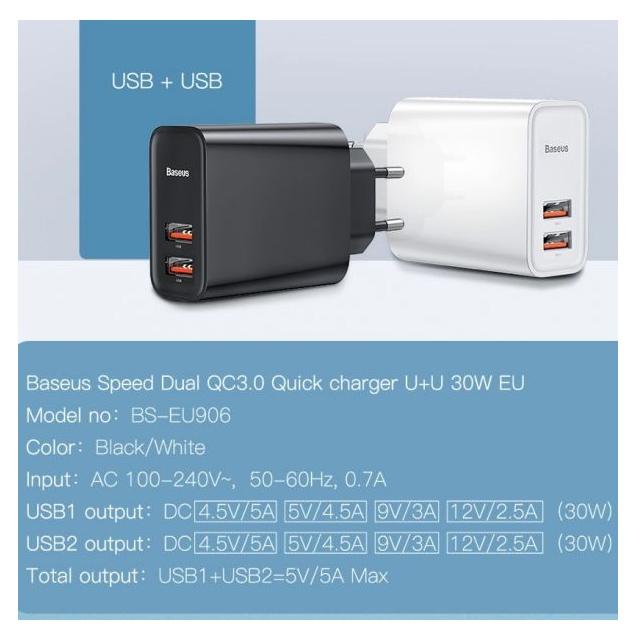 Image result for Baseus Speed Dual 30W CCFS-E01